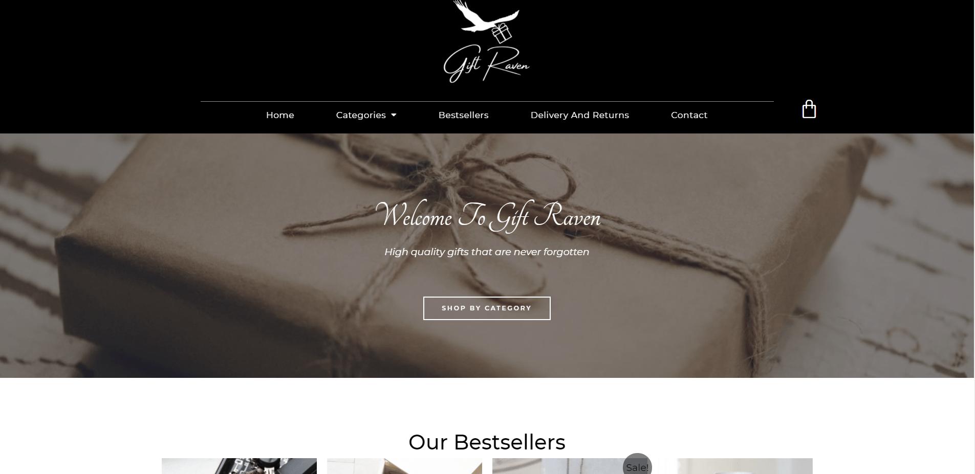 Gift Raven Image Web Design